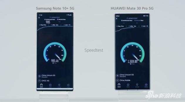 华为跟三星5G手机对比网速
