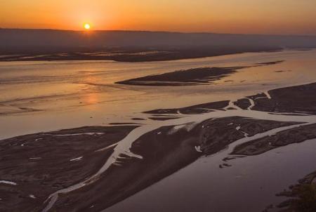 美!黃河日出 景色迷人